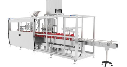AUTOMATIC FILLING MACHINE FOR BOTTLES, JERRYCANS